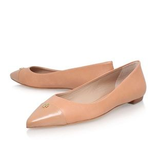 Tory Burch Fairford Flat in Blush Pink